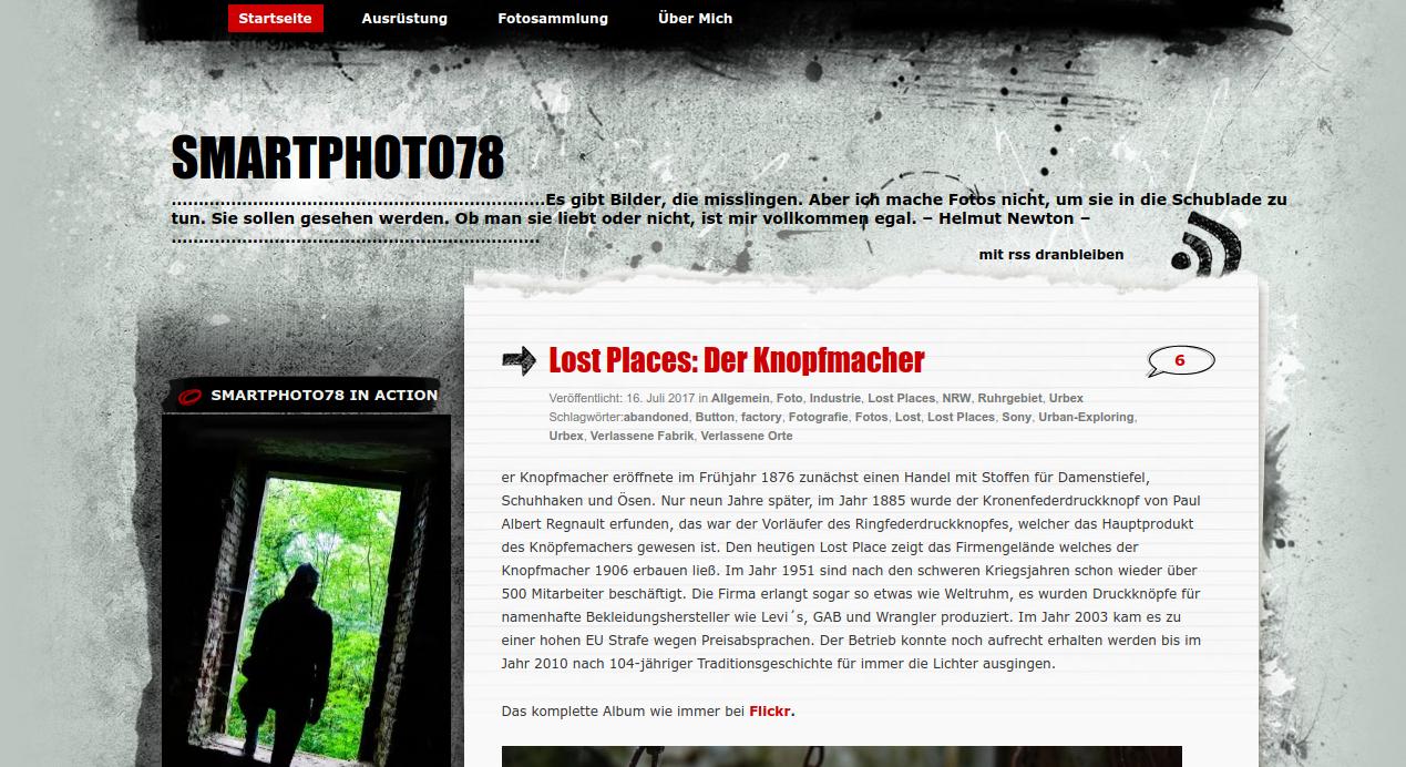 """Smartphoto78: Jägerin der """"verlorenen Plätze"""""""